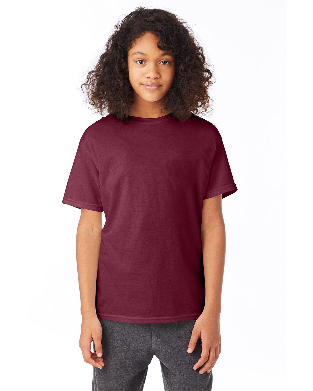 Hanes Youth 50/50 T-Shirt MAROON