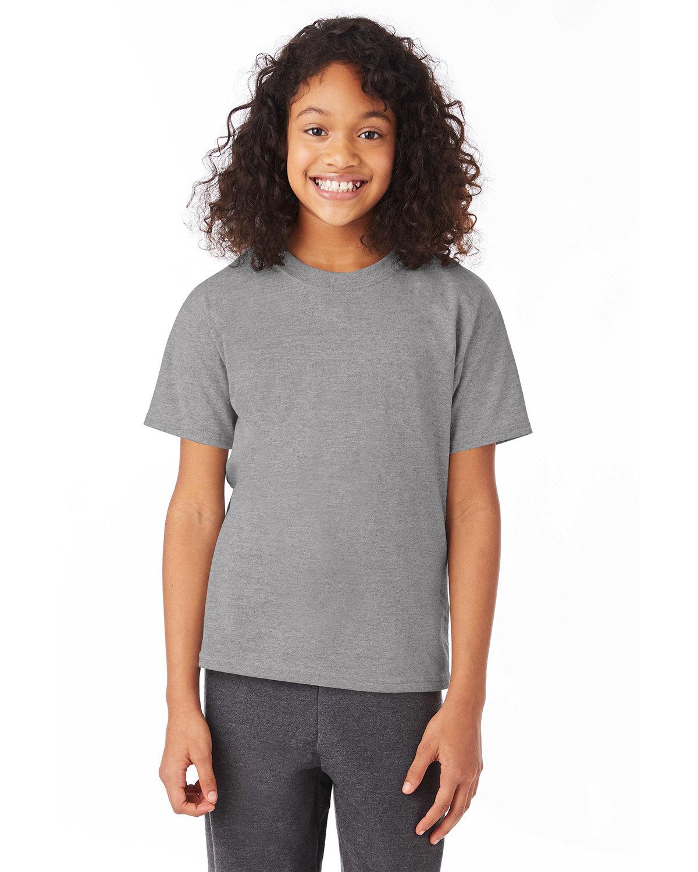 Hanes Youth 50/50 T-Shirt OXFORD GRAY