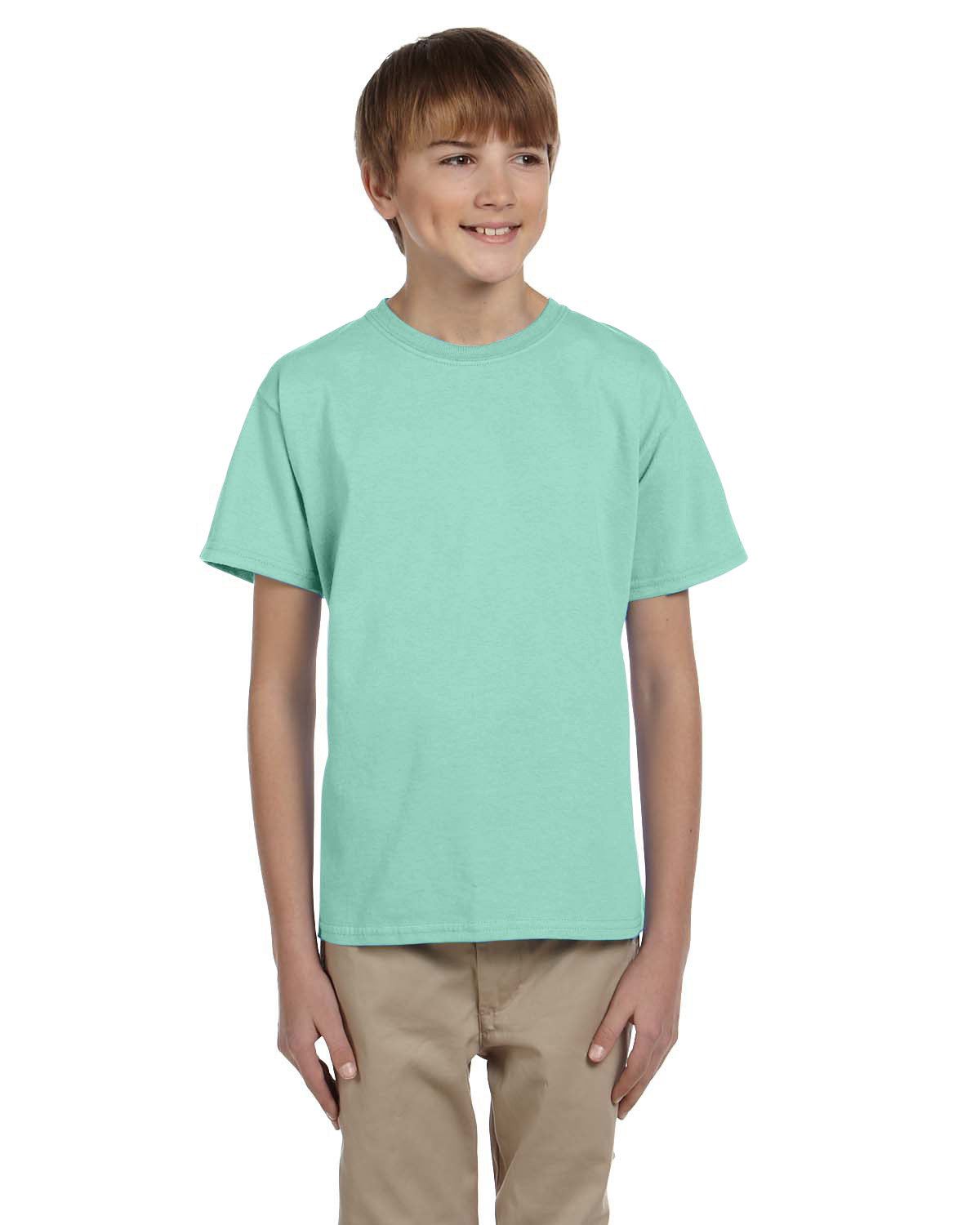 Hanes Youth 50/50 T-Shirt CLEAN MINT