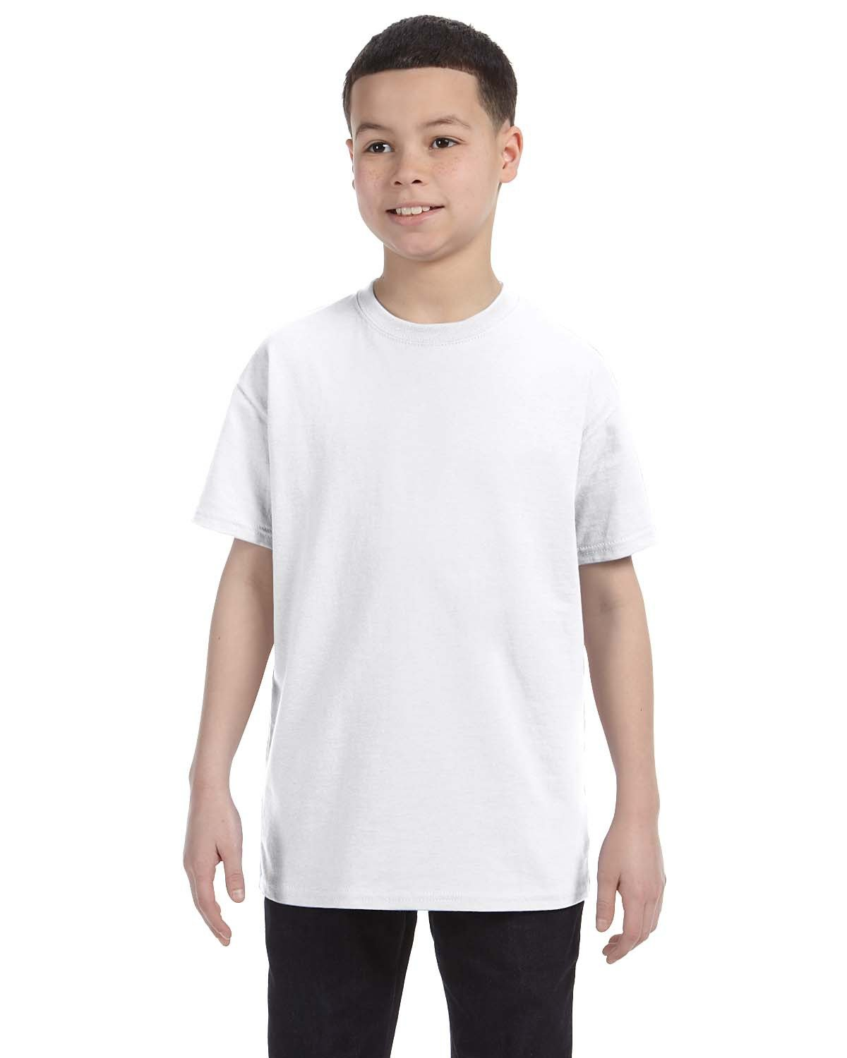 Hanes Youth Authentic-T T-Shirt WHITE