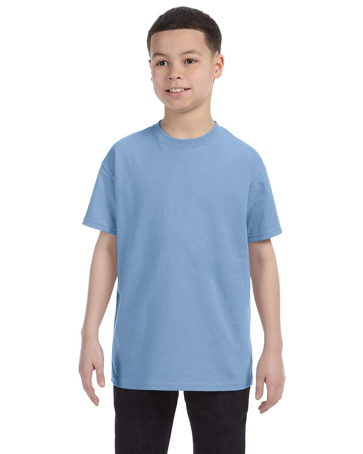 Hanes Youth Authentic-T T-Shirt LIGHT BLUE