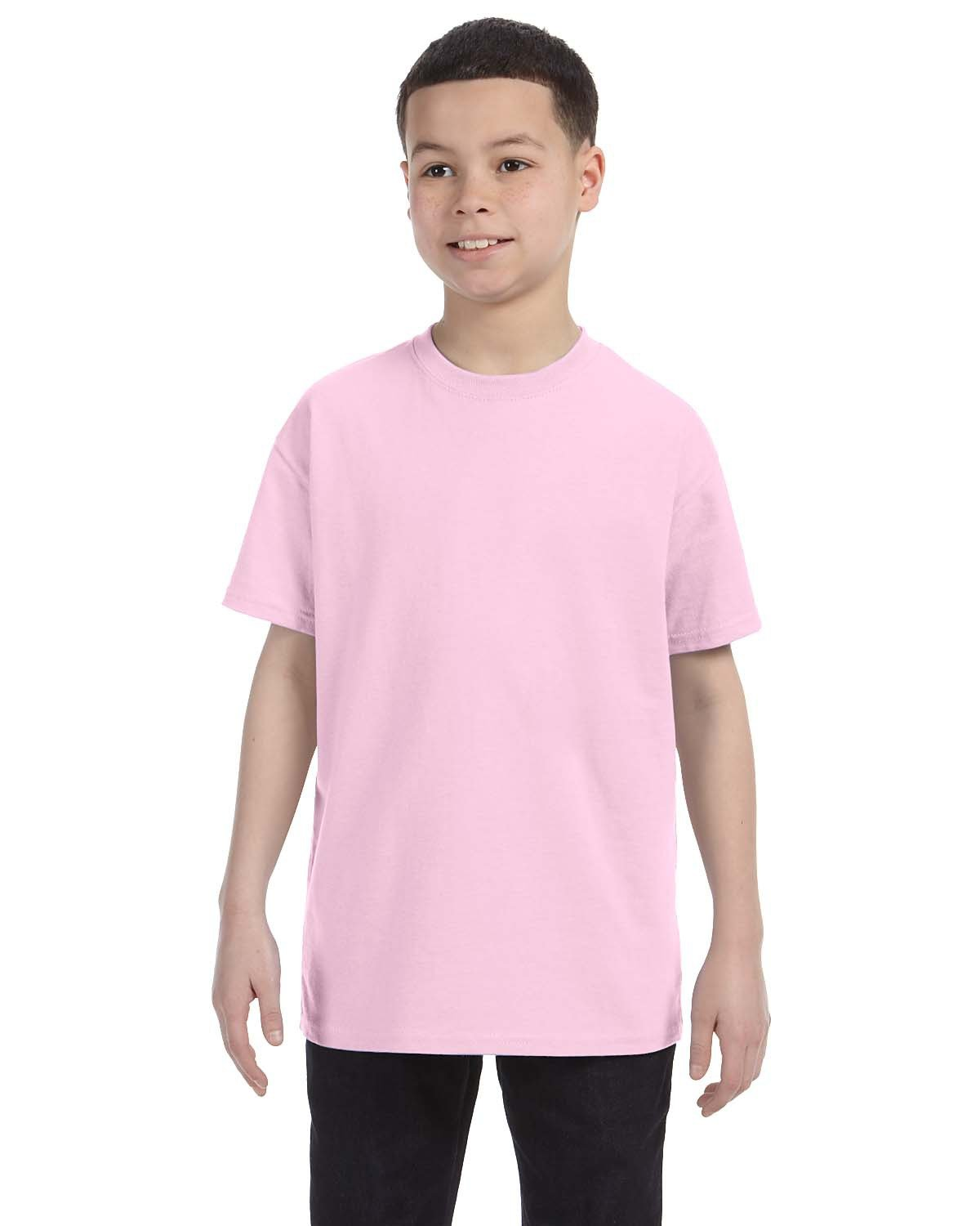 Hanes Youth Authentic-T T-Shirt PALE PINK