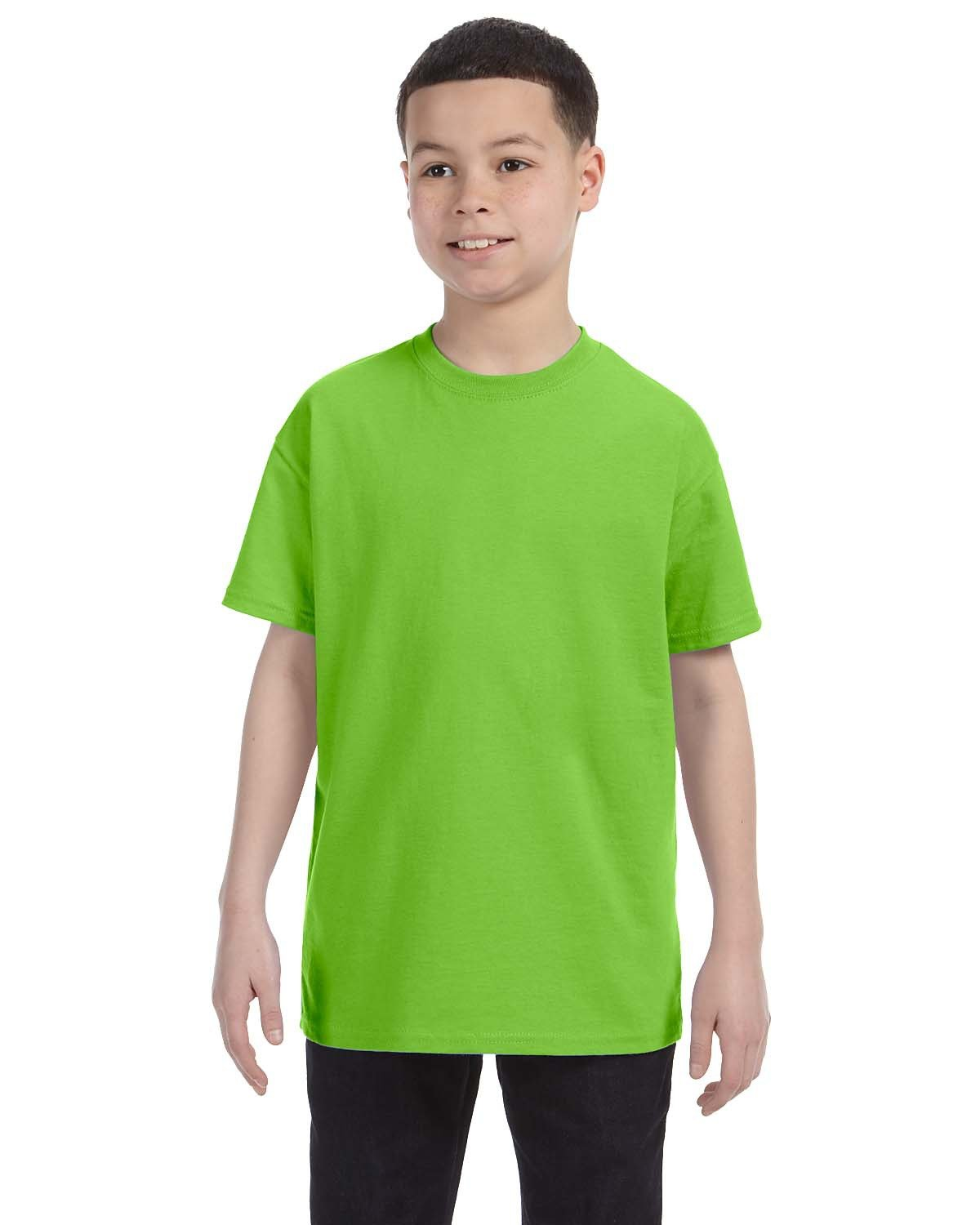 Hanes Youth Authentic-T T-Shirt LIME