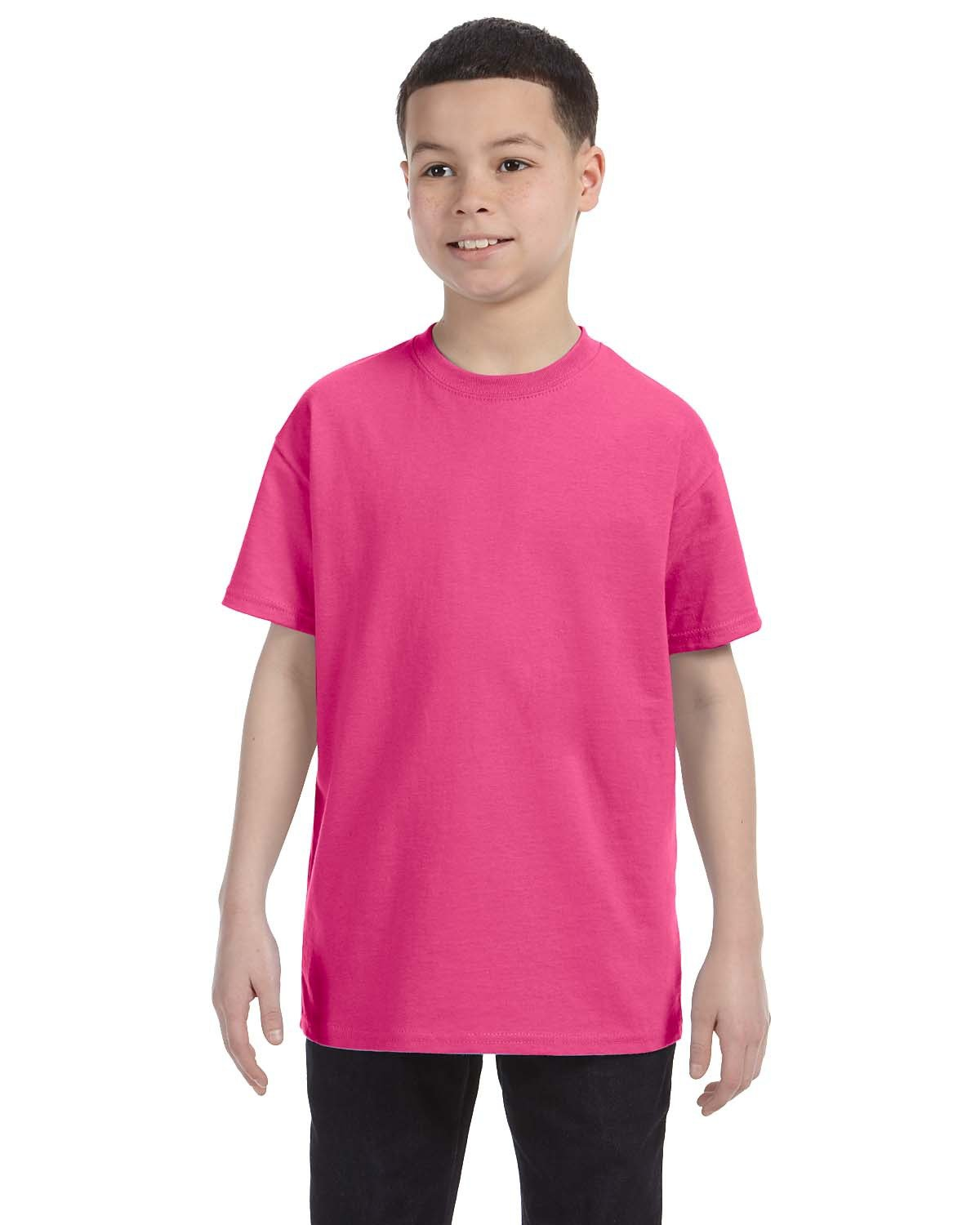 Hanes Youth Authentic-T T-Shirt WOW PINK