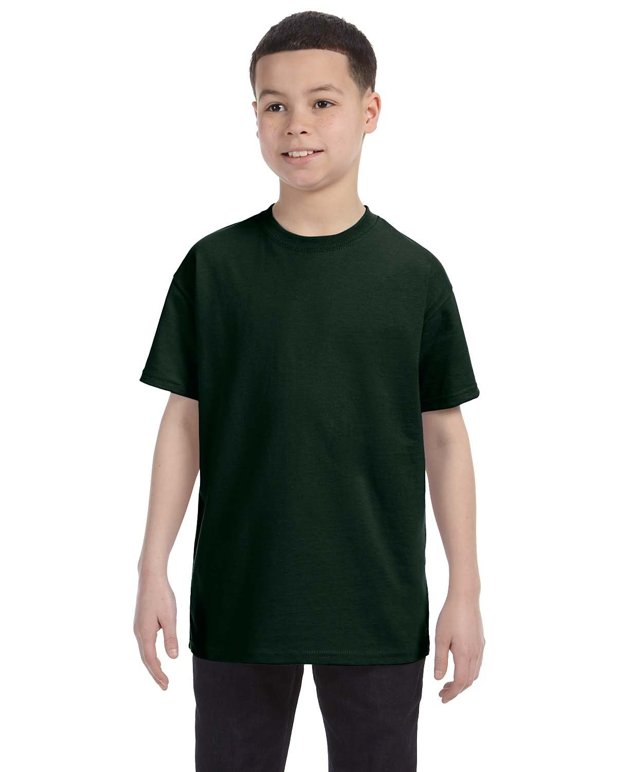 Hanes Youth Authentic-T T-Shirt DEEP FOREST