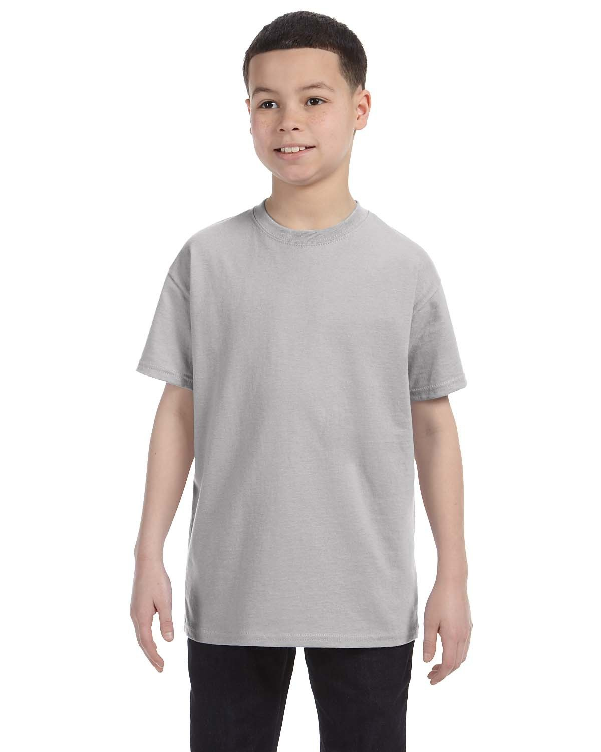 Hanes Youth Authentic-T T-Shirt LIGHT STEEL