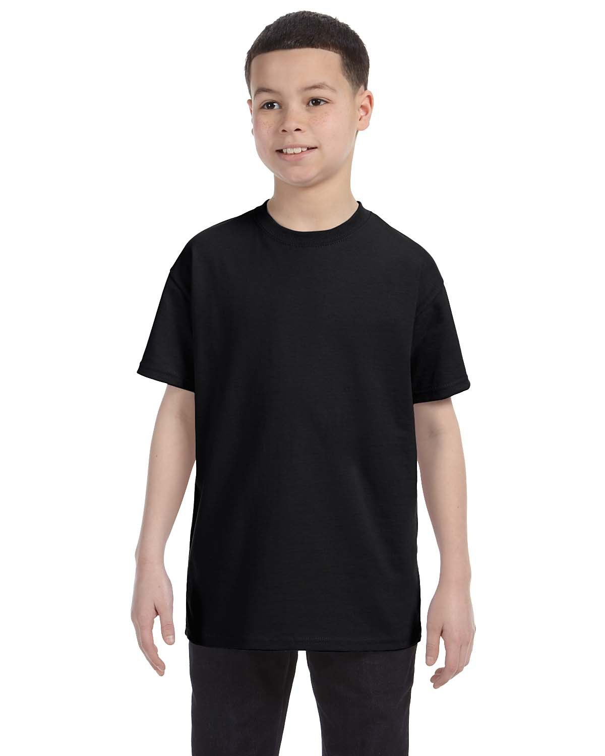 Hanes Youth Authentic-T T-Shirt BLACK