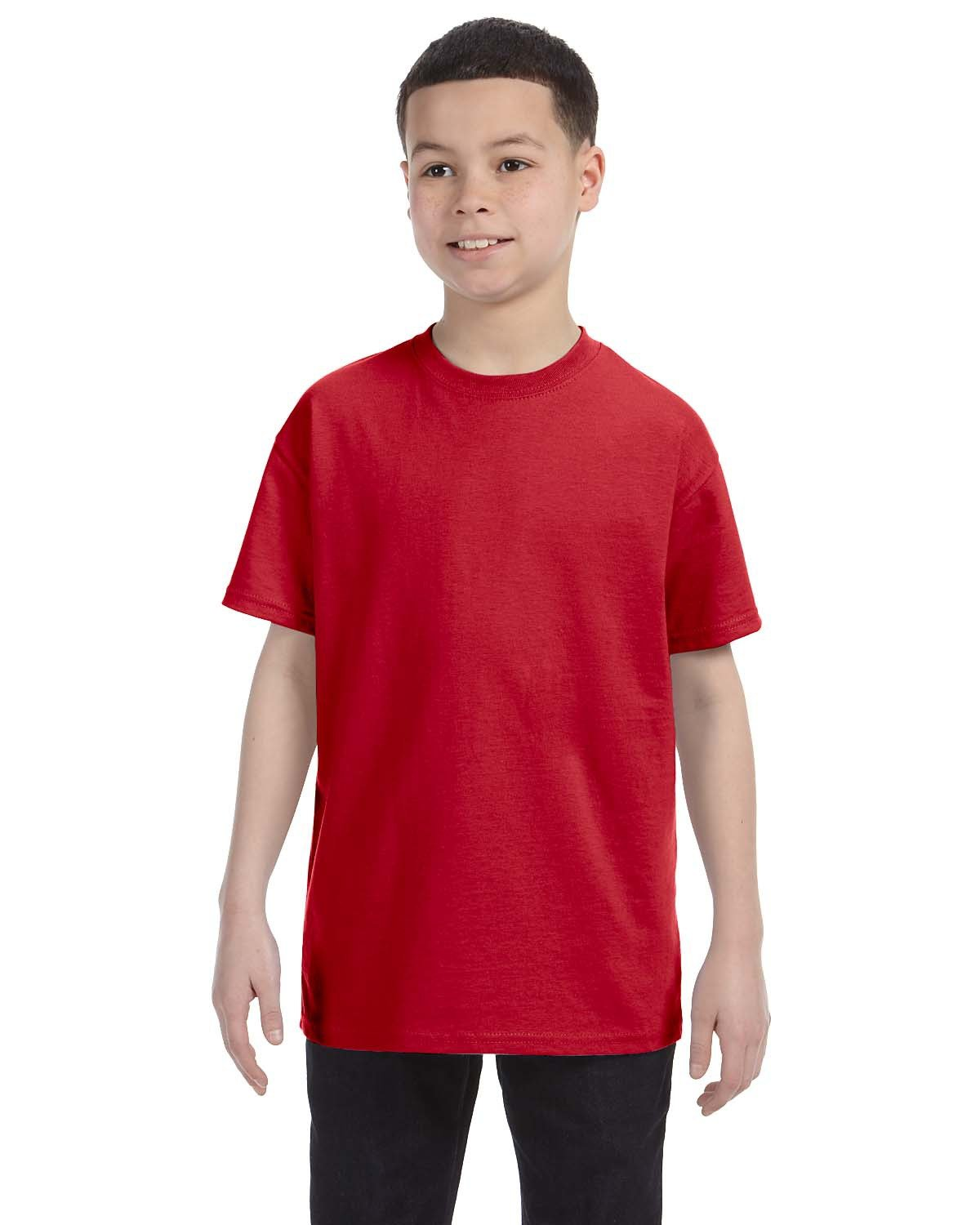Hanes Youth Authentic-T T-Shirt DEEP RED