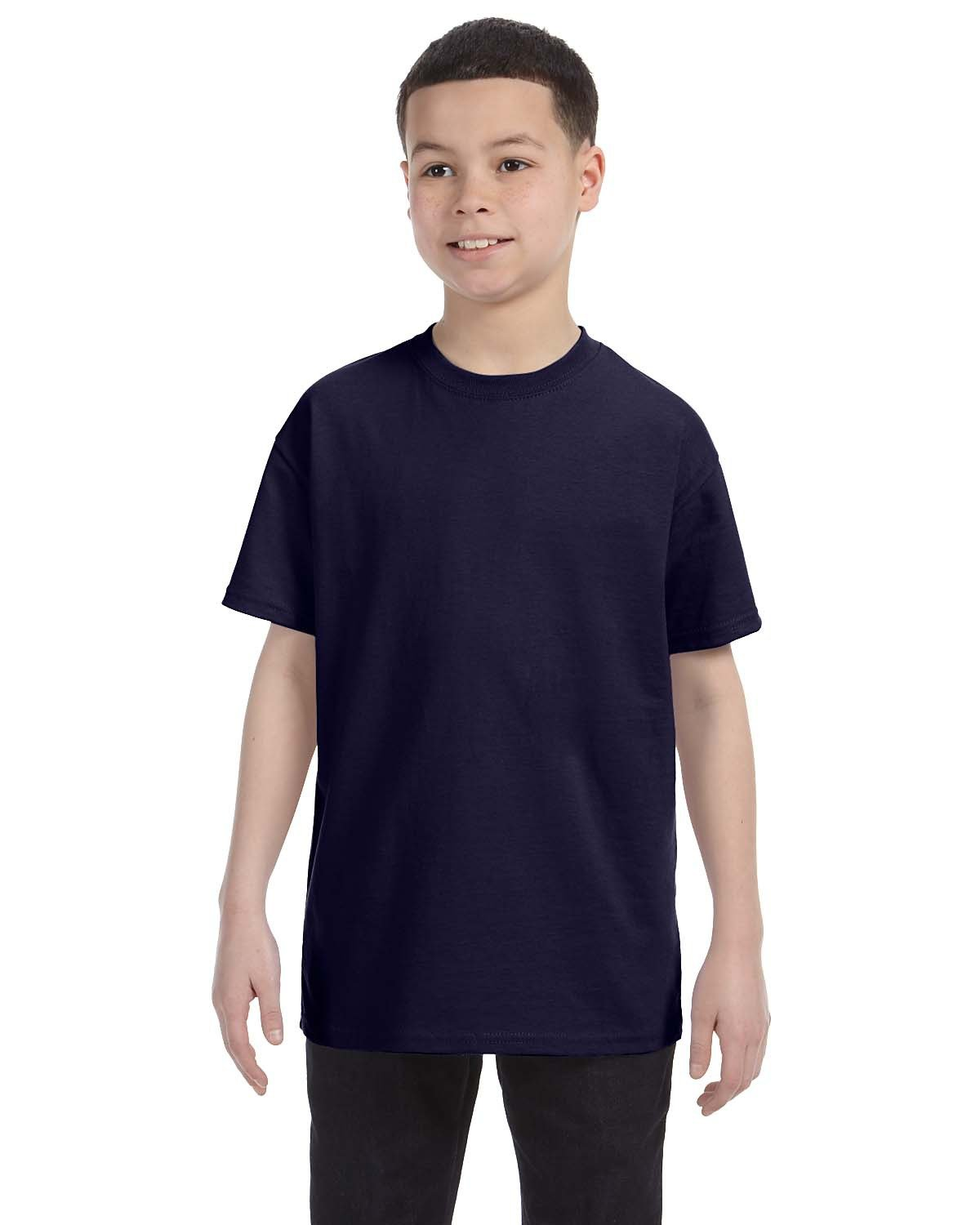 Hanes Youth Authentic-T T-Shirt NAVY