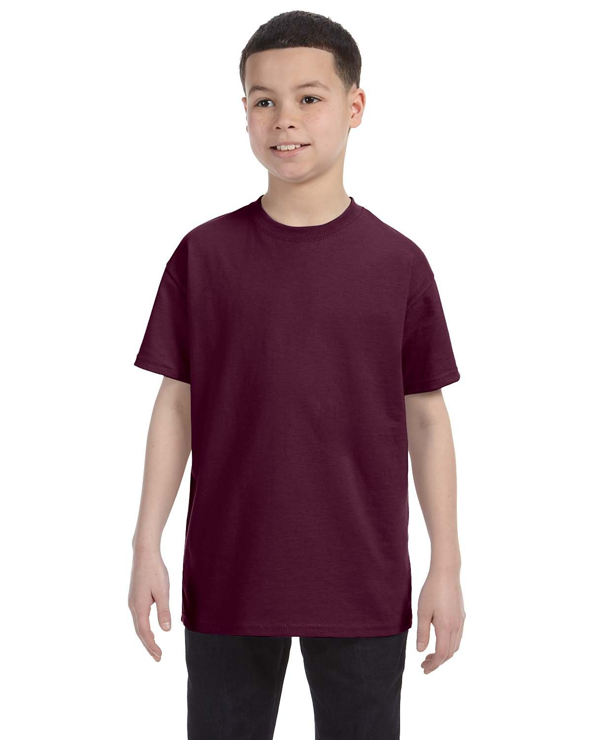 Hanes Youth Authentic-T T-Shirt MAROON