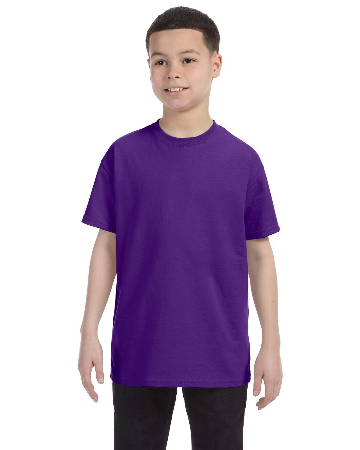 Hanes Youth Authentic-T T-Shirt PURPLE