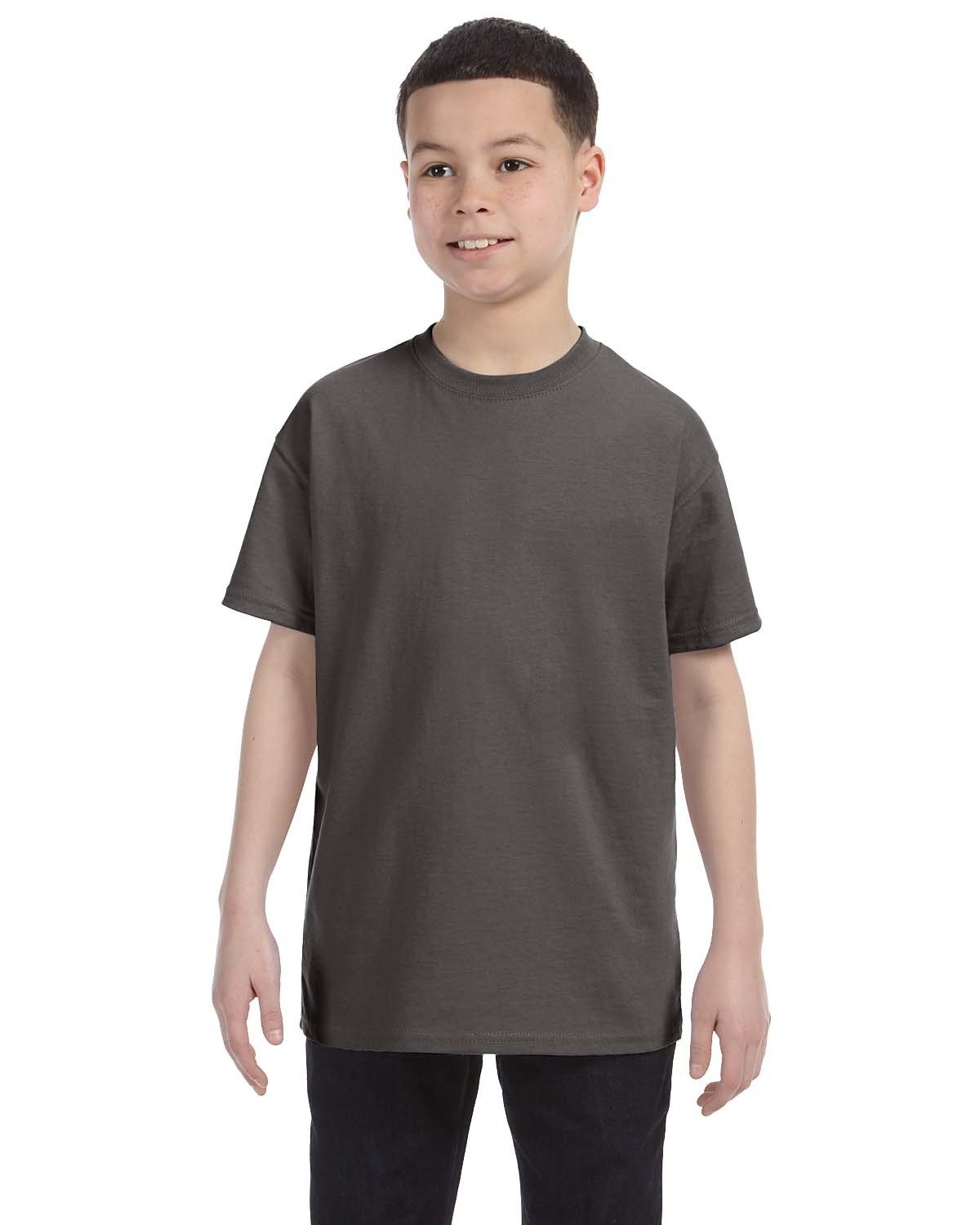 Hanes Youth Authentic-T T-Shirt SMOKE GRAY