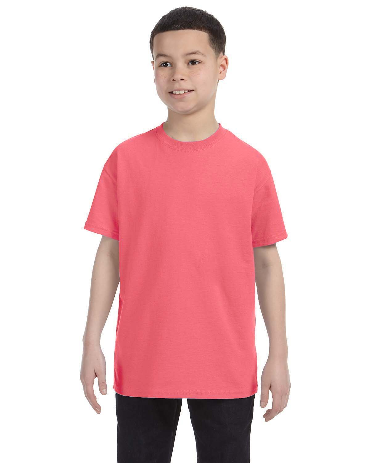 Hanes Youth Authentic-T T-Shirt CHARISMA CORAL