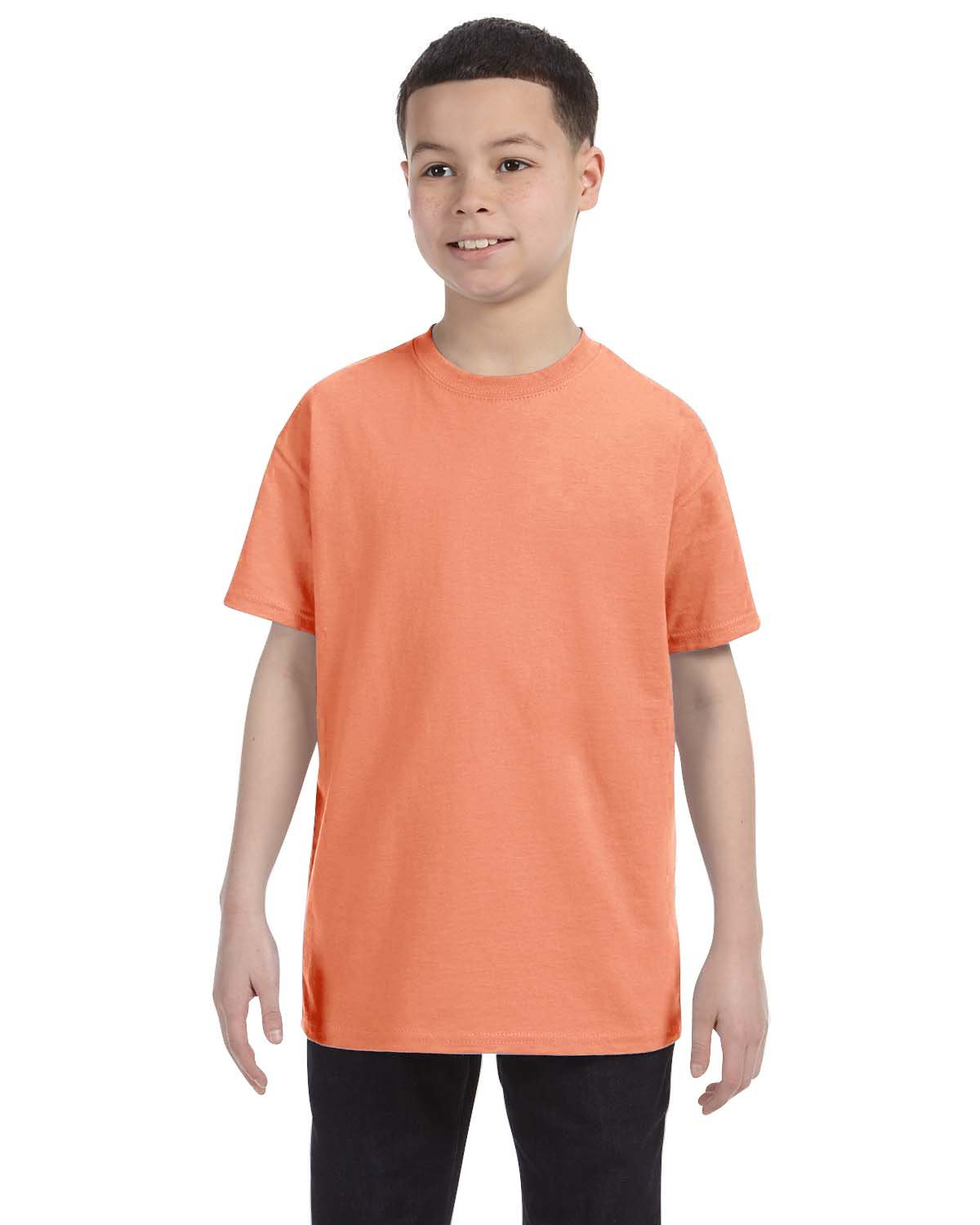 Hanes Youth Authentic-T T-Shirt CANDY ORANGE