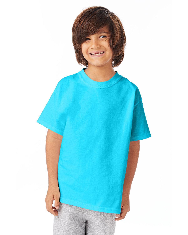 Hanes Youth Authentic-T T-Shirt BLUE HORIZON