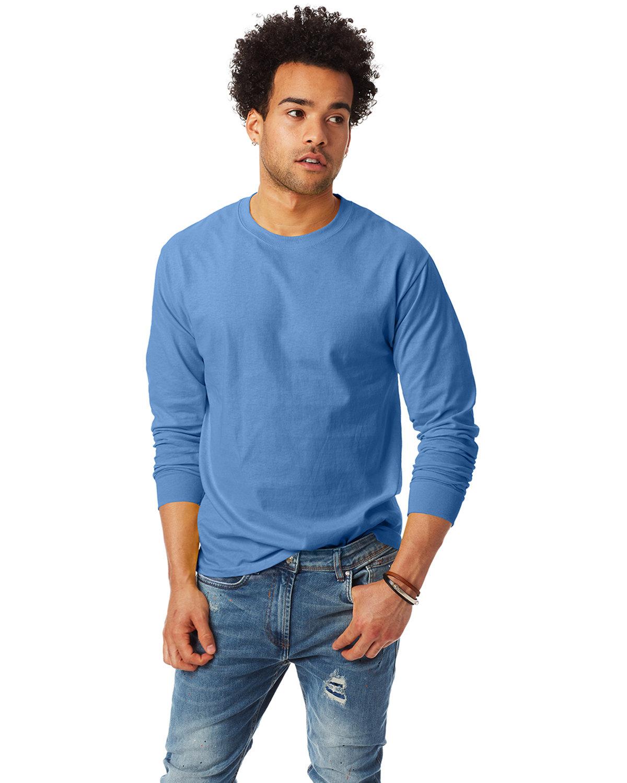 Hanes Adult Authentic-T Long-Sleeve T-Shirt CAROLINA BLUE