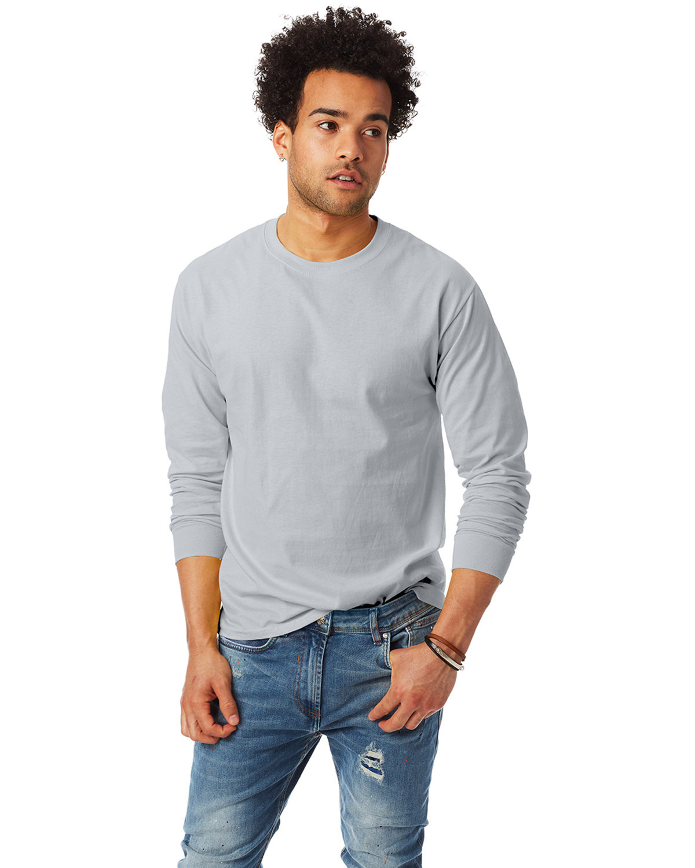 Hanes Adult Authentic-T Long-Sleeve T-Shirt ASH
