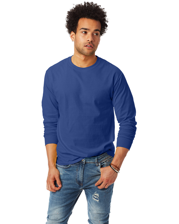 Hanes Adult Authentic-T Long-Sleeve T-Shirt DEEP ROYAL
