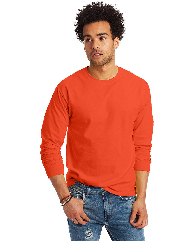 Hanes Adult Authentic-T Long-Sleeve T-Shirt ORANGE
