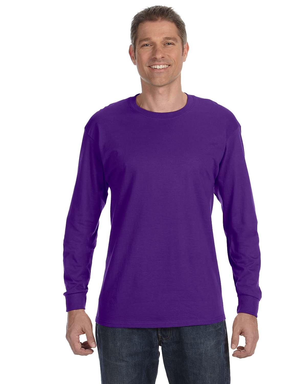 Hanes Adult Authentic-T Long-Sleeve T-Shirt PURPLE