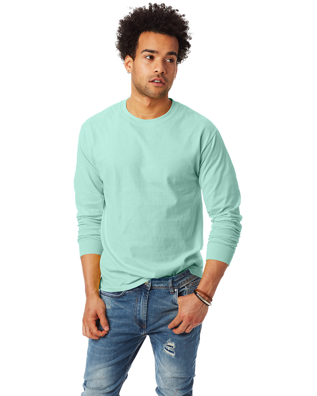 Hanes Adult Authentic-T Long-Sleeve T-Shirt CLEAN MINT