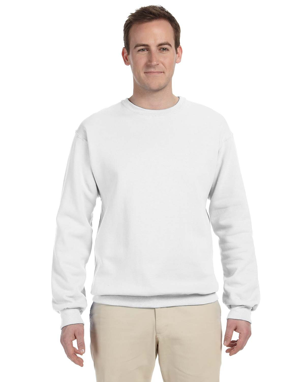 Jerzees Adult NuBlend® FleeceCrew WHITE