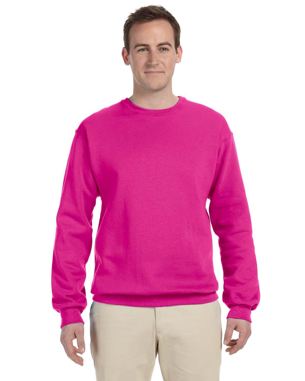 Jerzees Adult NuBlend® FleeceCrew CYBER PINK