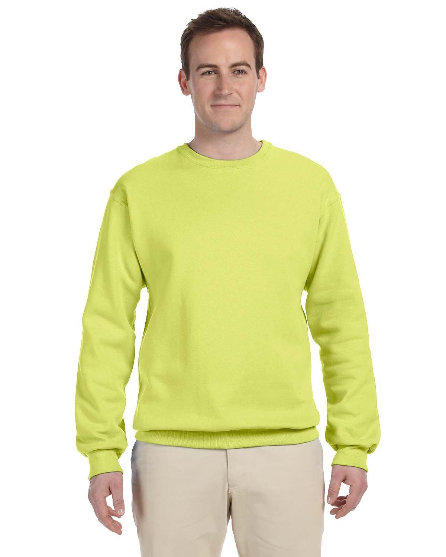 Jerzees Adult NuBlend® FleeceCrew SAFETY GREEN