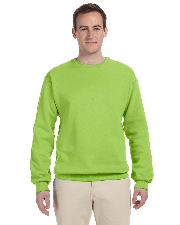 Jerzees Adult NuBlend® FleeceCrew NEON GREEN