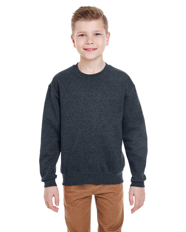 Jerzees Youth NuBlend® Fleece Crew BLACK HEATHER