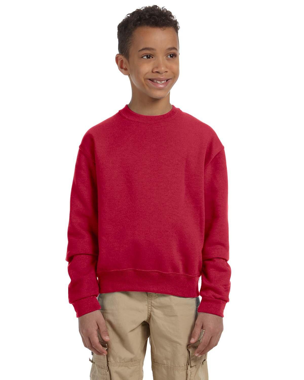 Jerzees Youth NuBlend® Fleece Crew TRUE RED