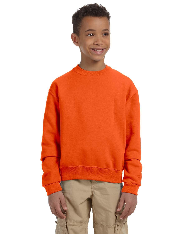 Jerzees Youth NuBlend® Fleece Crew SAFETY ORANGE