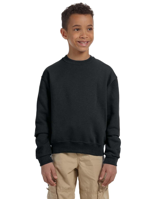 Jerzees Youth NuBlend® Fleece Crew BLACK