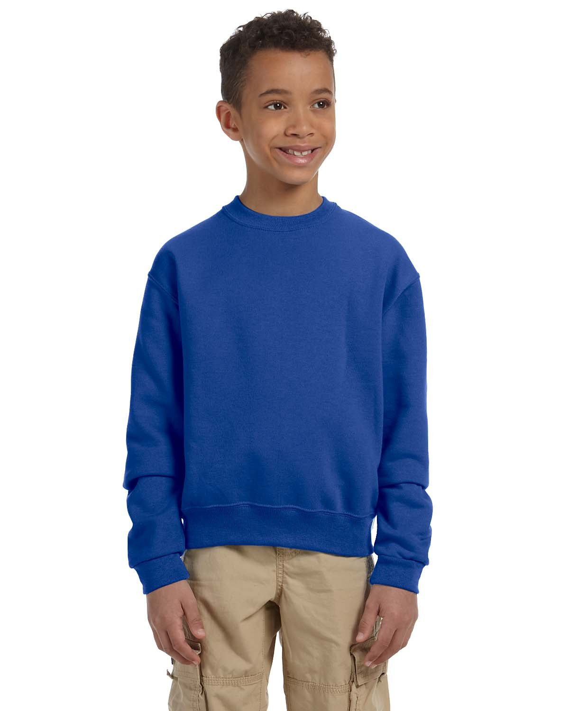 Jerzees Youth NuBlend® Fleece Crew ROYAL