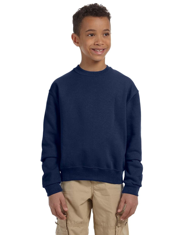Jerzees Youth NuBlend® Fleece Crew J NAVY