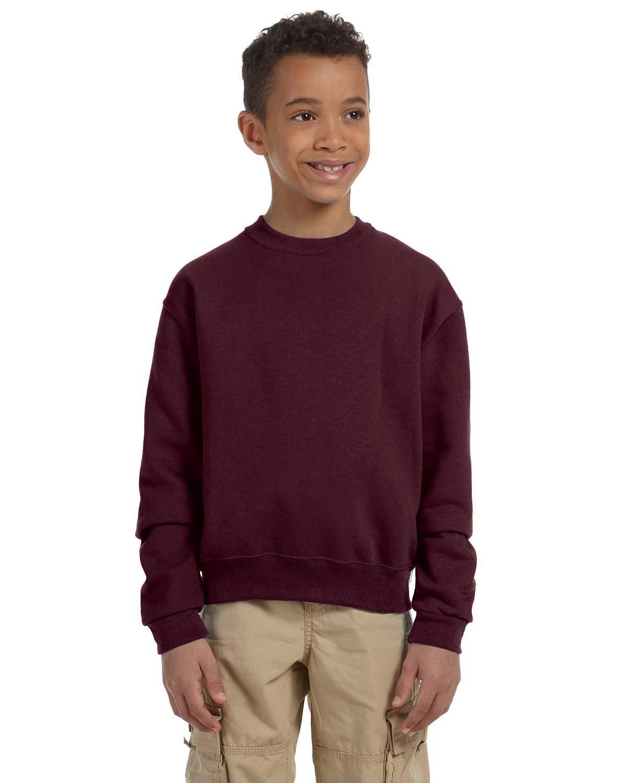 Jerzees Youth NuBlend® Fleece Crew MAROON