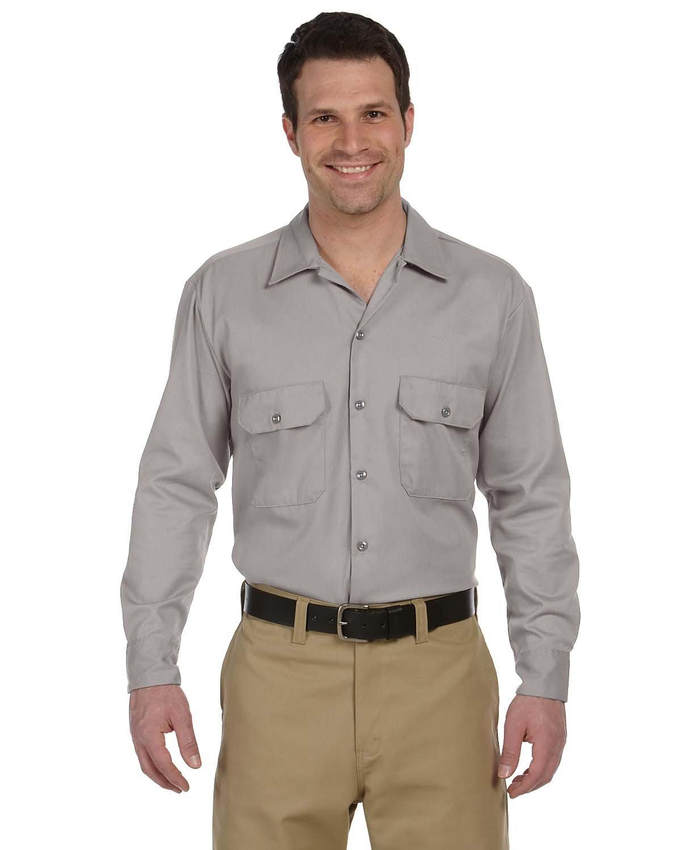 Dickies Men's 5.25 oz./yd² Long-Sleeve WorkShirt SILVER GRAY