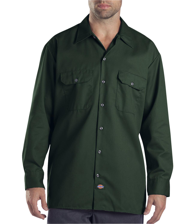 Dickies Men's 5.25 oz./yd² Long-Sleeve WorkShirt HUNTER GREEN