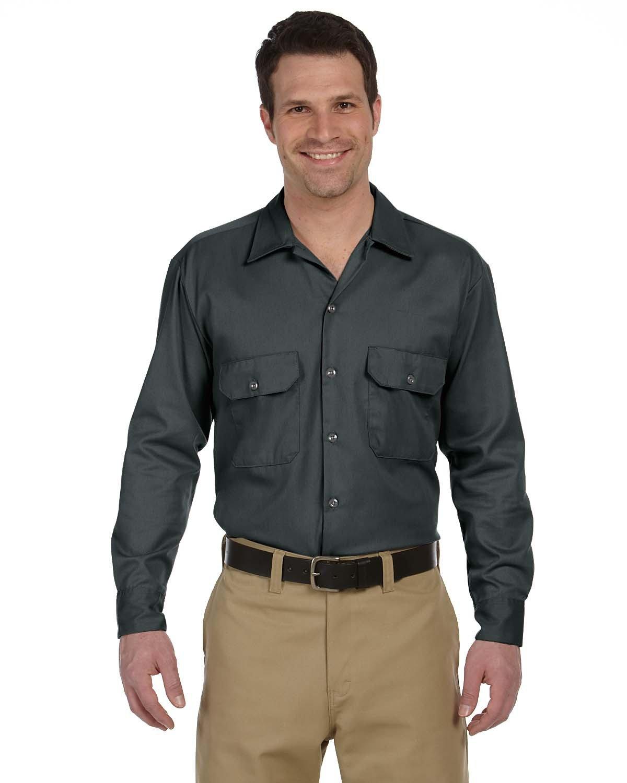 Dickies Men's 5.25 oz./yd² Long-Sleeve WorkShirt CHARCOAL
