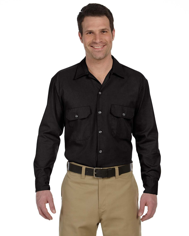 Dickies Men's 5.25 oz./yd² Long-Sleeve WorkShirt BLACK