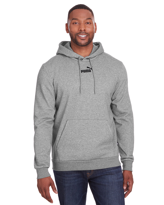 Puma Sport Adult Puma Essential Fleece Hoodie MD GY HTH/ P BLK