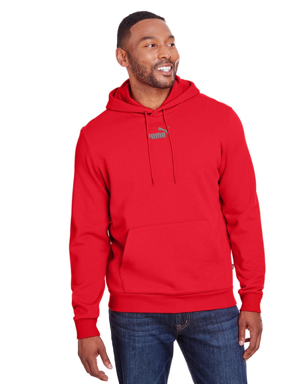 Puma Sport Adult Puma Essential Fleece Hoodie HI RSK RD/ Q SHD
