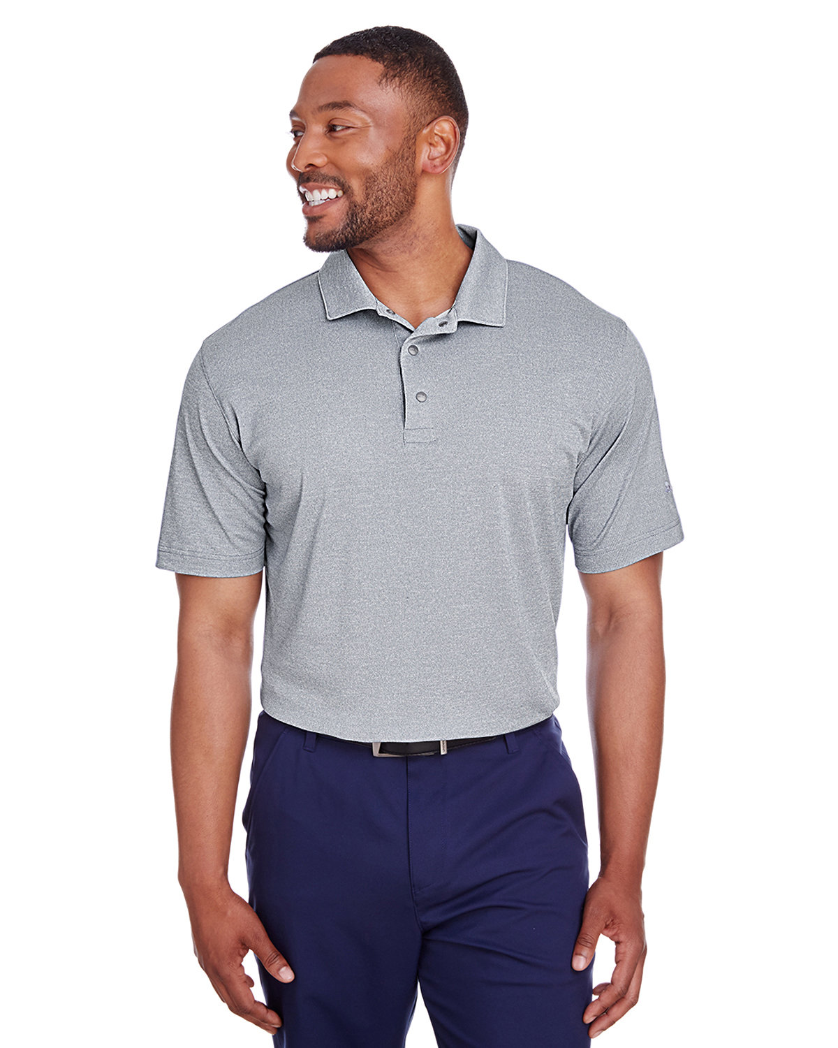 Puma Golf Men's Grill-To Green Polo PEACOAT HEATHER