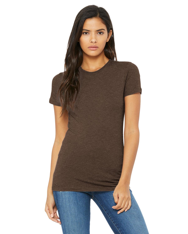 Bella + Canvas Ladies' Slim Fit T-Shirt HEATHER BROWN