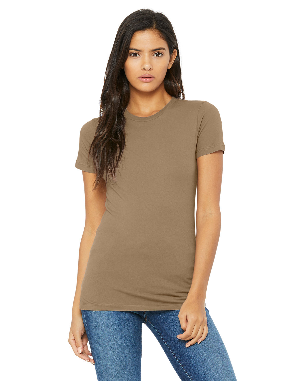 Bella + Canvas Ladies' Slim Fit T-Shirt PEBBLE