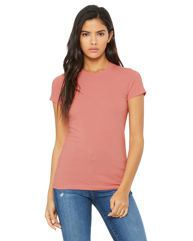 Bella + Canvas Ladies' Slim Fit T-Shirt HEATHER PINK