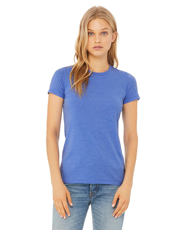 Bella + Canvas Ladies' Slim Fit T-Shirt HTHR COLUM BLU