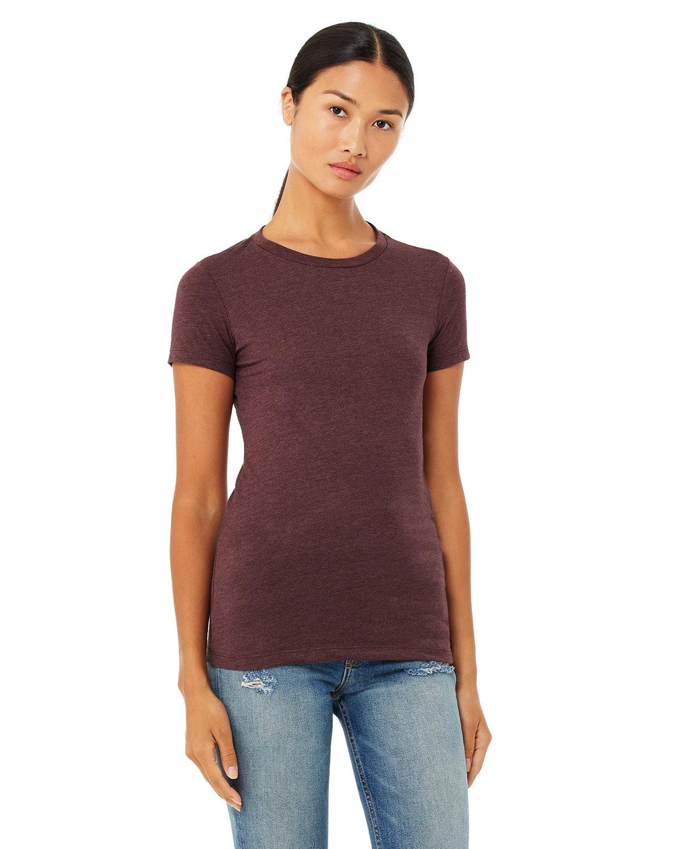 Bella + Canvas Ladies' Slim Fit T-Shirt HEATHER MAROON