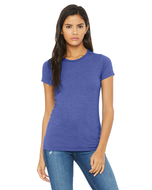 Bella + Canvas Ladies' Slim Fit T-Shirt HTHR TRUE ROYAL