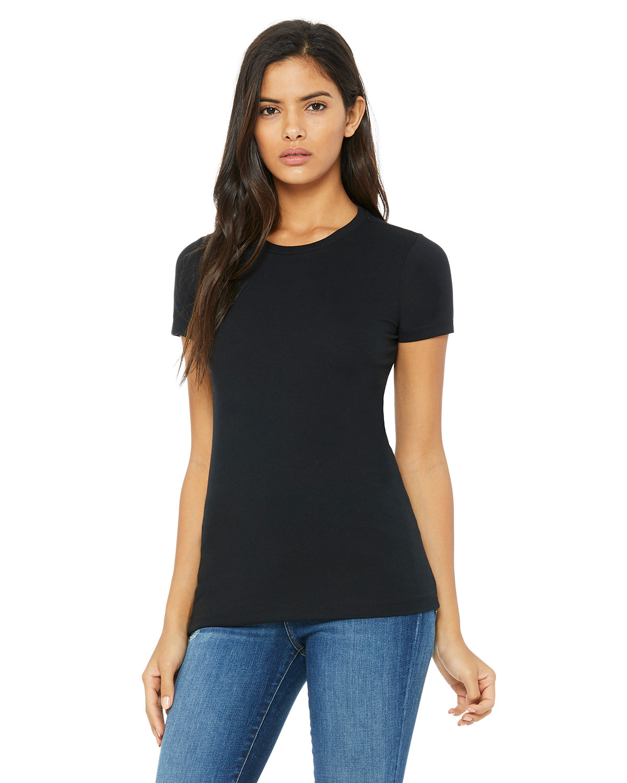 Bella + Canvas Ladies' Slim Fit T-Shirt SOLID BLK BLEND